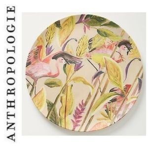 Anthropologie Zwaan Bamboo Melamine Flamingo Plate